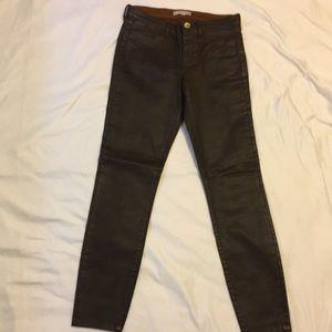 Banana Republic leather look new slim pants